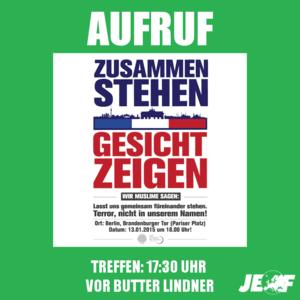 Demonstrationsaufruf: #gemeinsamfuereinander
