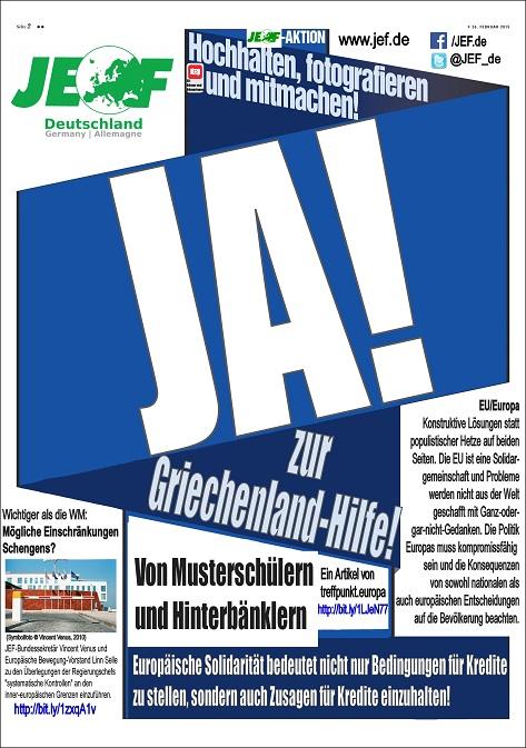 Selfie-Aktion: JA! zur Griechenland-Hilfe – NEIN! zur BILD-Hetze