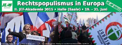 "Jetzt zur II. Akademie ""Rechtspopulismus in Europa"" anmelden"