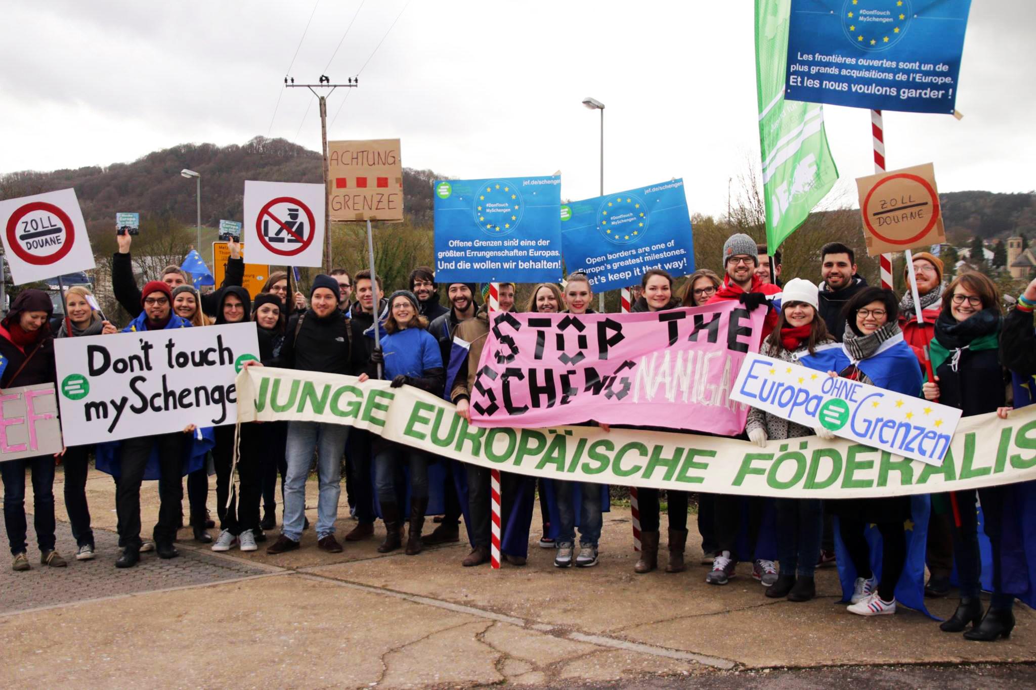 Europas Jugend protestiert für offene Binnengrenzen