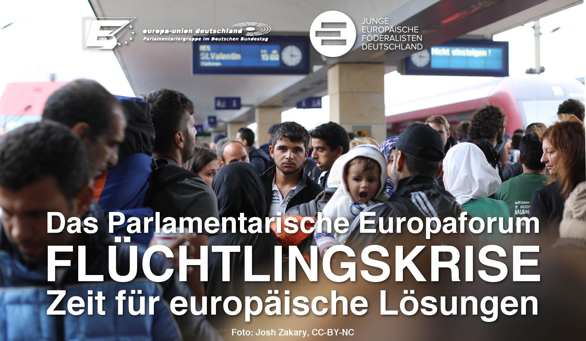 """Parlamentarisches Europaforum """"Flüchtlingskrise – Zeit für europäische Lösungen"""" am 16. März"""