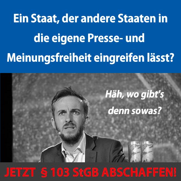 Zur Causa Böhmermann: §103 StGB abschaffen!