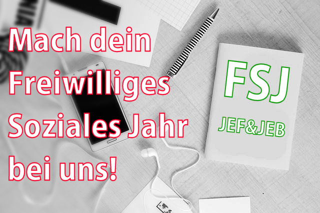 Freiwilliges Soziales Jahr in den Geschäftsstellen von JEF und JEB