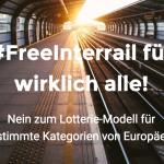Wir fordern ein kostenloses Interrail-Ticket für alle 18. jährigen Europäer. FreeInterrail