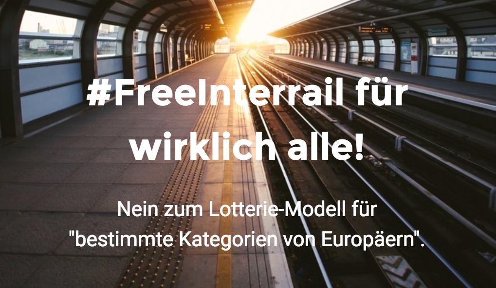 FreeInterrail für alle (!) 18-Jährigen