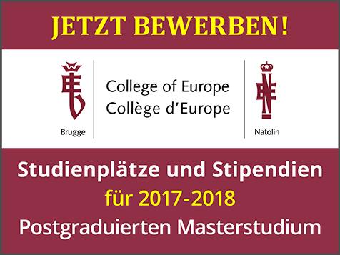 College of Europe: Bis 18. Januar 2017 für Stipendien bewerben