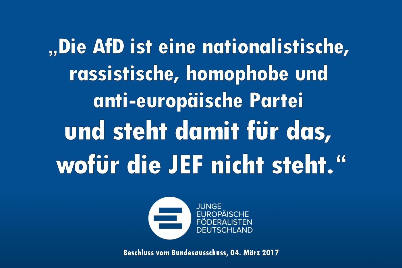 JEF lehnen anti-europäischen Populismus und Zusammenarbeit mit AfD/JA ab