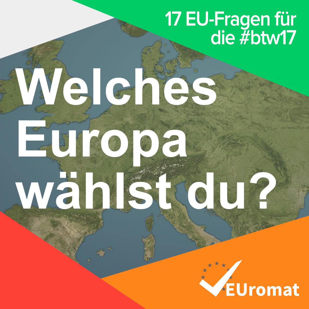 EUromat – der europäische Parteien-Check zur Bundestagswahl 2017
