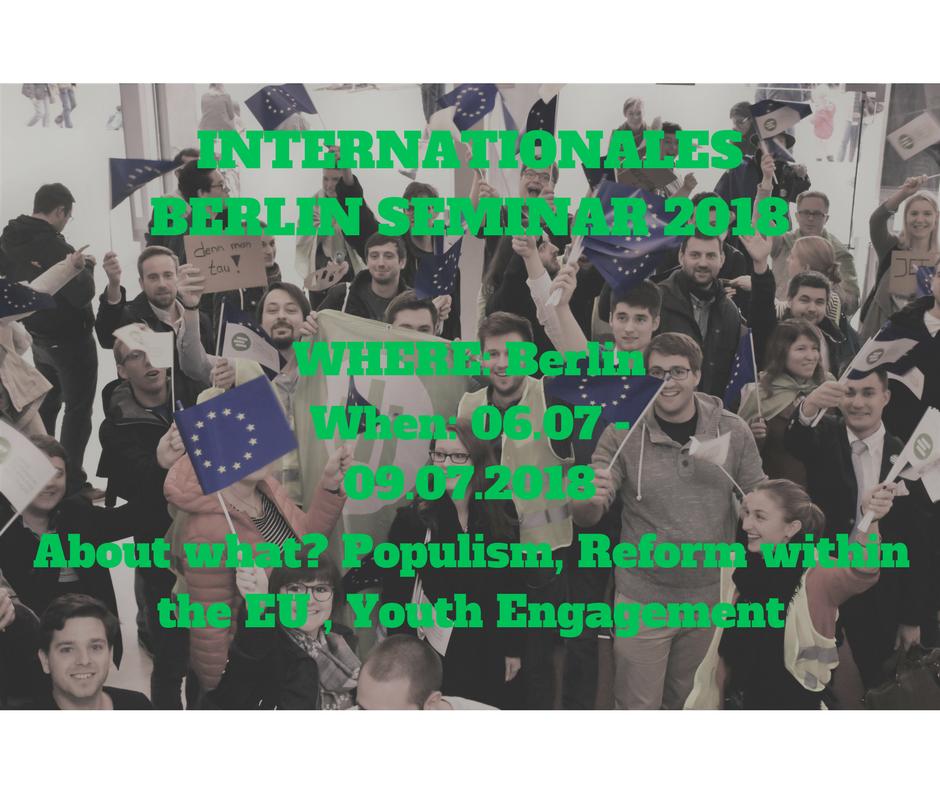 Jetzt für das International Berlin Seminar 2018 anmelden!