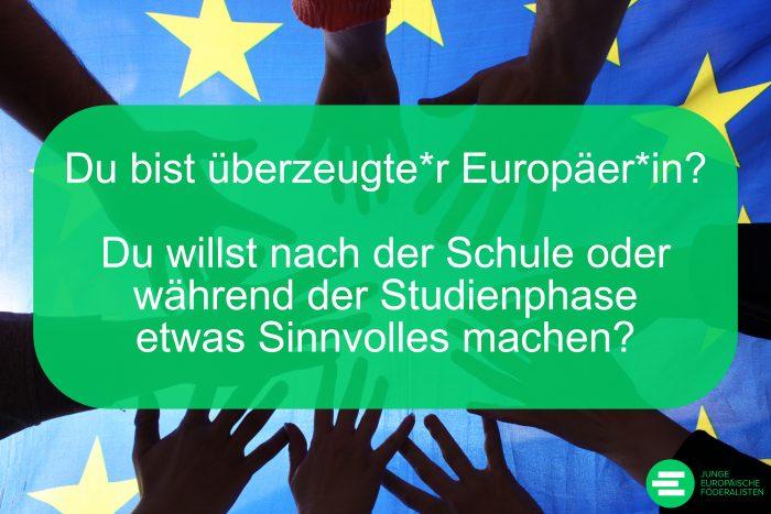 Als Bundesfreiwillige*r im Einsatz für die Jugend Europas!