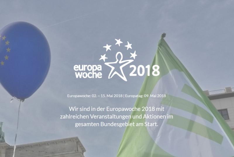 Unsere Veranstaltungen und Aktionen zur Europawoche 2018