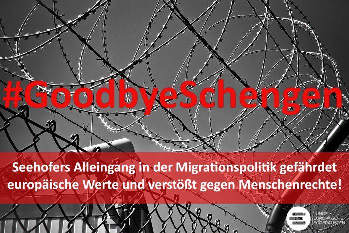 """""""#GoodbyeSchengen"""" und die """"Achse der Willigen"""""""