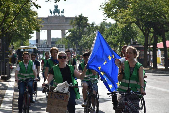 In die Pedalen treten für Europa