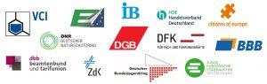 Logos der sich an dem Aufruf beteiligenden Spitzenverbände