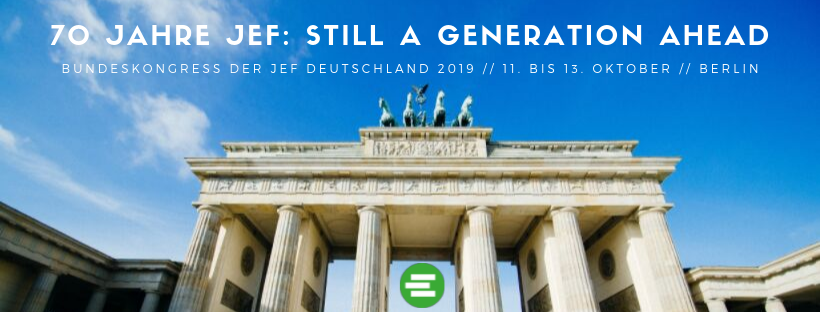 Still a Generation ahead! 66. Bundeskongress im Oktober in Berlin