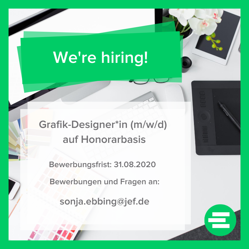 We're hiring | Grafiker-Designer*in auf Honorarbasis gesucht!